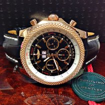 Breitling Bentley 6.75 R44367 Rose Gold Black Dial - Box &...