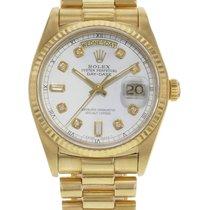 Rolex Day-Date 18038 18K Yellow Gold Diamond Dial Watch (18481)