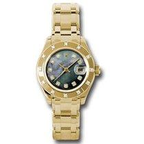 Rolex Lady-Datejust Pearlmaster Жёлтое золото 29mm Перламутровый