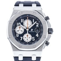 오드마피게 Royal Oak Offshore Chronograph 스틸 42mm 파란색