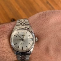 Tudor Steel Automatic Silver No numerals 32mm pre-owned Prince Oysterdate