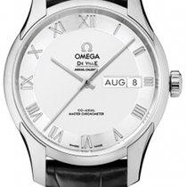 Omega De Ville Hour Vision neu 2021 Automatik Uhr mit Original-Box und Original-Papieren 433.13.41.22.02.001