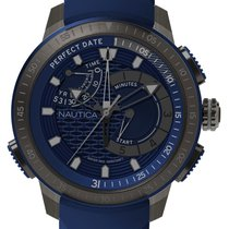 Nautica Steel 47mm Quartz NAPCPT002 new