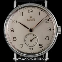 Rolex Vintage Steel Silver Arabic Dial Precision Gents