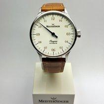 Meistersinger Pangaea PM908 weiß, Index gold
