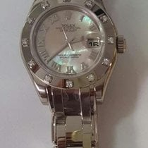 Rolex Lady-Datejust Pearlmaster White gold 29mm Mother of pearl Roman numerals