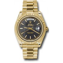 Rolex Day-Date 40 228238 18K Yellow Gold 40MM Black Diagonal...