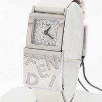 Fendi Secret Series Double Time Diamond Dial Leather Strap...
