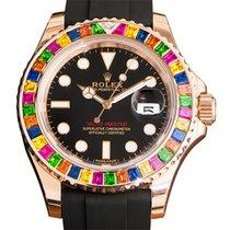 勞力士 (Rolex) Yacht Master 18k Rose Gold Black Automatic 116695