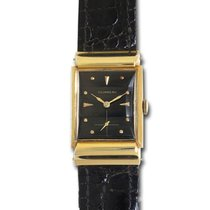 Tourneau Classic 14k Black dial 22mm Manual watch