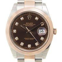 勞力士 Datejust 18k Rose Gold And Steel Pink Automatic 126301GBR_O