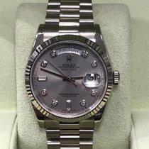 Rolex Day Date President 118239 Factory Diamond Dial 18K White...