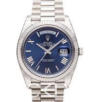Rolex Day-Date Blue 18k White Gold 40mm President - 228239