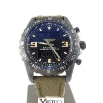 Breitling Chronospace Military pre-owned 46mm Black Chronograph Date Alarm GMT Textile