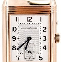 Jaeger-LeCoultre Rose gold Manual winding Silver 42mm pre-owned Reverso Duoface