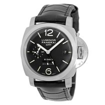 Panerai Luminor 1950 8 Days GMT Aço 44mm Preto Árabes