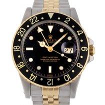 Rolex GMT-Master Gold/Stahl 40mm Schwarz Keine Ziffern Schweiz, Lugano