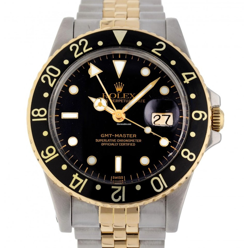 Rolex Gmt I 16753 Stainless Steel Yellow Gold 40mm