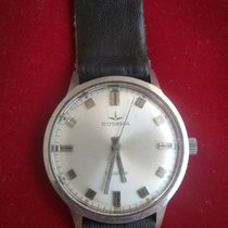 Dugena Steel Manual winding Silver No numerals 34mm pre-owned