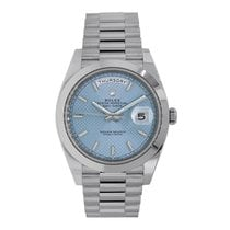 Rolex Day-Date 40 Platinum 40mm Blue Roman numerals