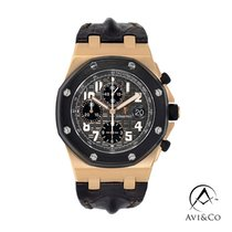 Audemars Piguet Royal Oak Offshore Chronograph Rose gold 42mm Black Arabic numerals