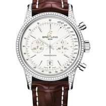 Breitling A4131063/G757 Transocean Chronograph 38mm in Steel...