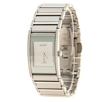 Rado Silver Stainless Steel and Ceramic Diamond Women's