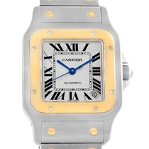 Cartier Santos Galbee Xl Steel Yellow Gold Mens Watch W20099c4...
