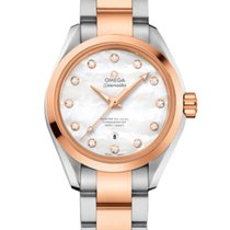 Omega Seamaster Aqua Terra Gold/Steel 34mm Mother of pearl