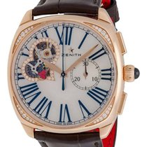 Zenith 18K Rose Gold Heritage Star Open Chronograph Ladies...