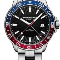 Raymond Weil Tango Diver Blue & Red Bezel Men's Watch 8280-ST3...