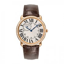 Cartier Ronde Louis Cartier Rose gold 42mm Silver Roman numerals United States of America, Florida, Miami