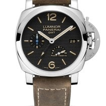 Panerai Luminor 1950 3 Days GMT Power Reserve Automatic Steel 42mm Black Arabic numerals
