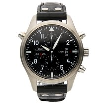 IWC Pilot Double Chronograph pre-owned 46mm Steel