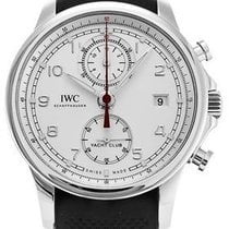 IWC Portuguese Yacht Club Chronograph Steel 43.5mm Silver Arabic numerals United States of America, New York, New York
