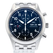 IWC Pilot Chronograph pre-owned 42mm Black Steel