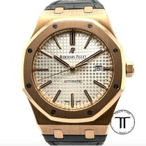 Audemars Piguet Royal Oak Selfwinding Rose gold 41mm Silver No numerals United States of America, New York, New York