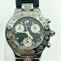 Cartier 21 Chronoscaph Stahl 38.5mm Grau Römisch
