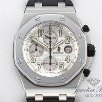 Audemars Piguet Royal Oak Offshore Chronograph gebraucht 42mm Silber Chronograph Datum Tachymeter Kautschuk