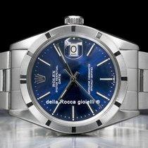 Rolex Oyster Perpetual Date rabljen 34mm Plav-modar Datum, nadnevak Preklopac