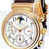 IWC Rose gold Automatic Silver 41.5mm pre-owned Da Vinci Perpetual Calendar