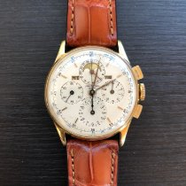 Universal Genève Compax Yellow gold 35mm White No numerals