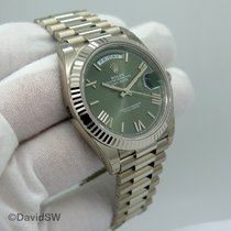 Rolex Day-Date 40 White gold 40mm Green Roman numerals United States of America, Florida, Orlando