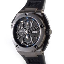 IWC Ingenieur Double Chronograph Titanium Titanium 45mm Black No numerals United States of America, New York, Greenvale