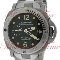 "Panerai Luminor Submersible, Black Dial with ""Paris Hobnails..."