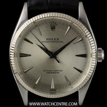Rolex Stainless Steel Rare Oyster Perpetual Silver Dial Gents...