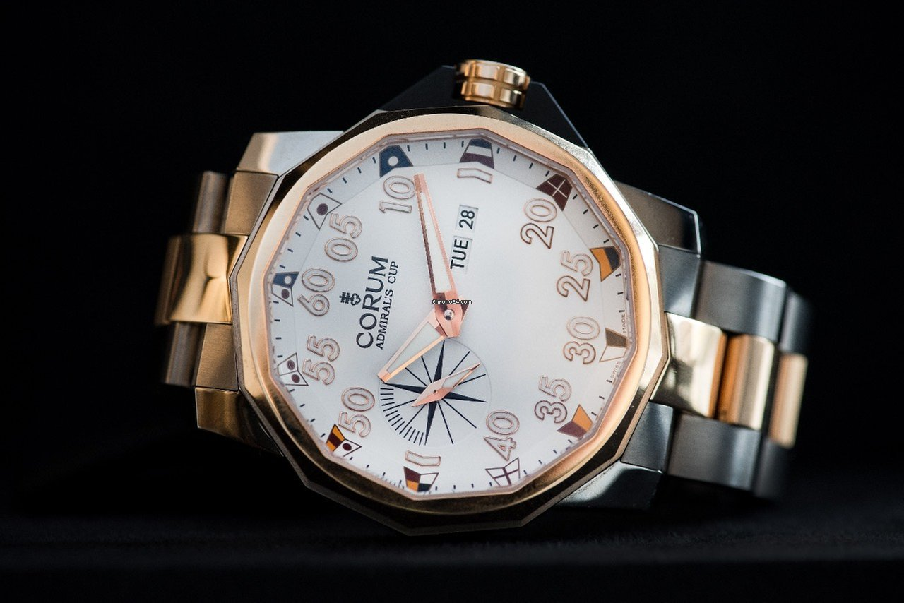 Corum Admiral's Cup Competition 48 947.931.05/V790 AA32 neu