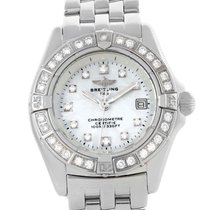 Breitling Callisto Mop Diamond Ladies Watch A72345 Box Papers
