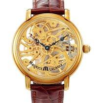 Maurice Lacroix , Yellow Gold Skeletonized Wristwatch,...