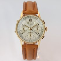 Leonidas Chronograph 35mm Manual winding 1950 pre-owned Silver